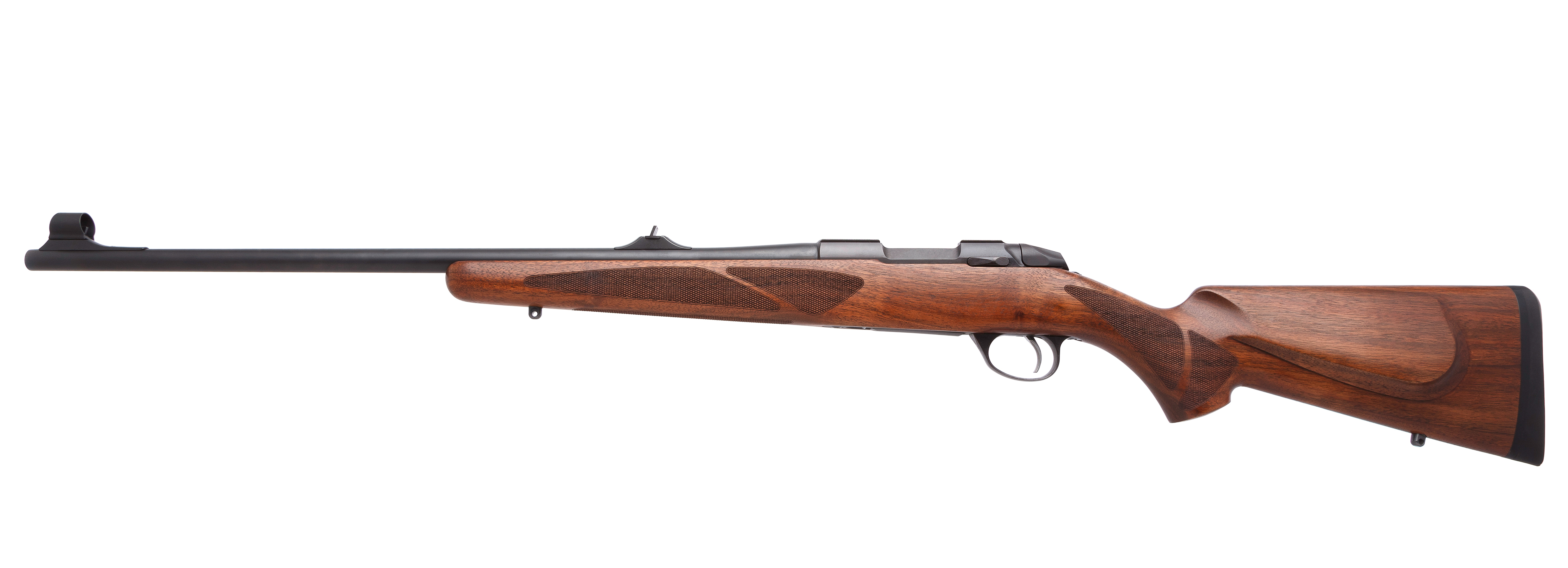 Langwaffe mit Schaft aus Holz